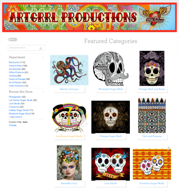 ArtGrrl Productions on Zazzle