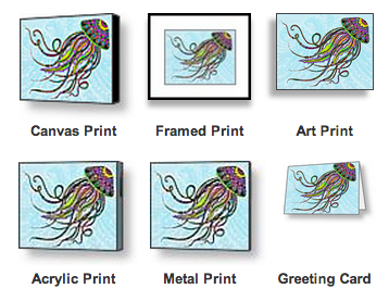 Jellyfish prints